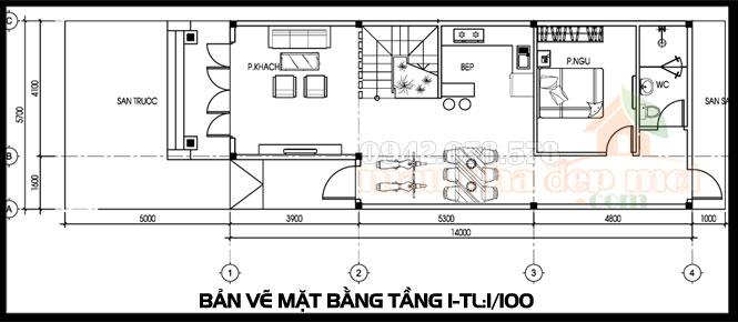 thiết kế nhà cấp 4 có gác lửng